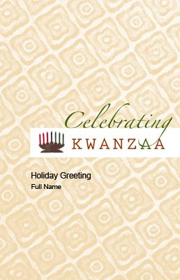 Kwanzaa7 Greeting Card (55x85)